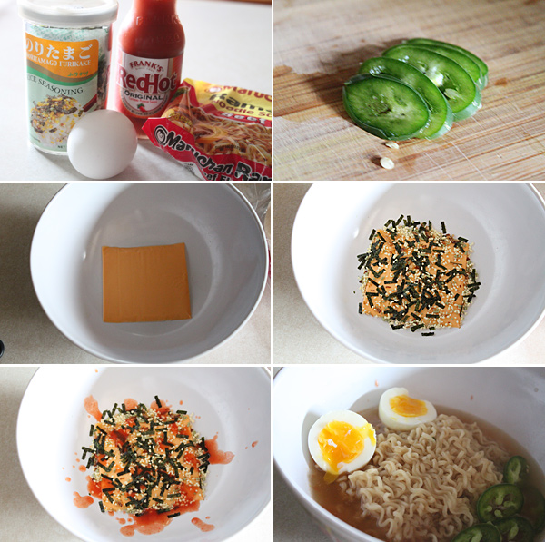Mixed Ramen Bowl Ingredients
