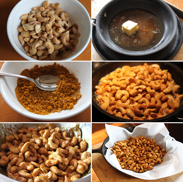 Indian Spiced and Glazed Cashews Recipe