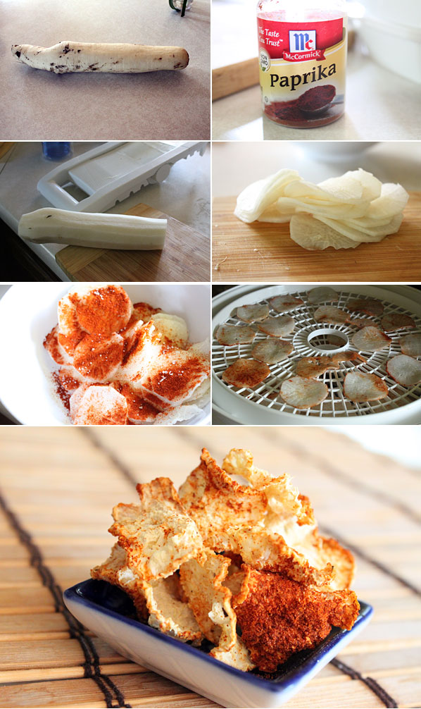 How to make daikon chips