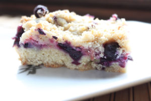 Rhubarb and Blueberry Streusel Recipe