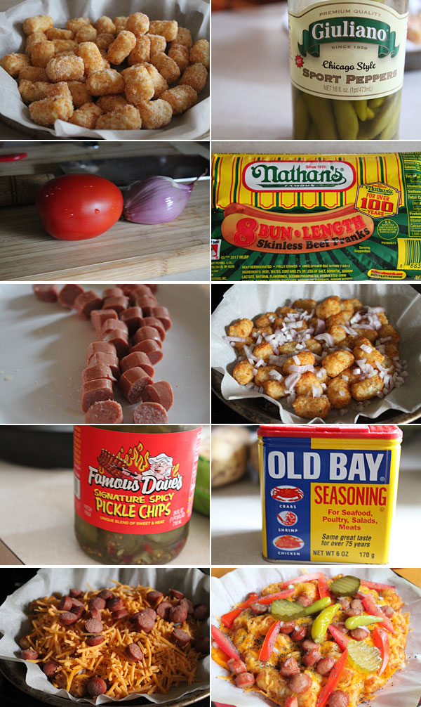 Chicago Style Hot Dog Tater Tots Recipe