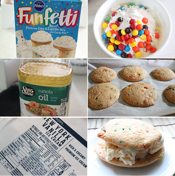 Ice Cream Cake Sandwiches Ingredients
