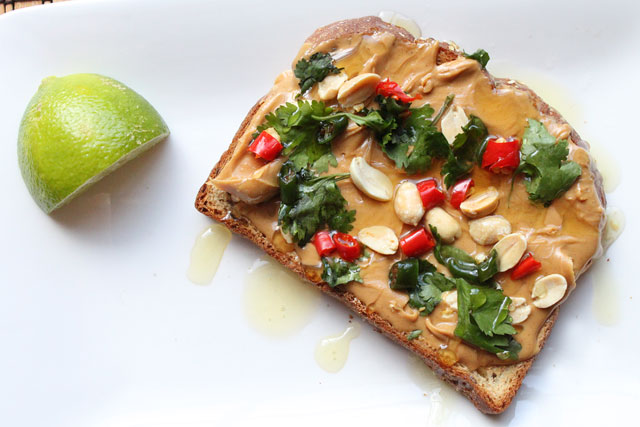 Thai Peanut Butter Toast