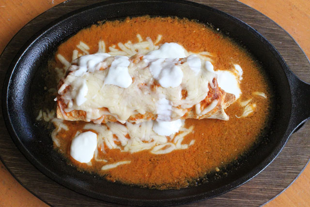 Smothered Burrito with Bombero Sauce