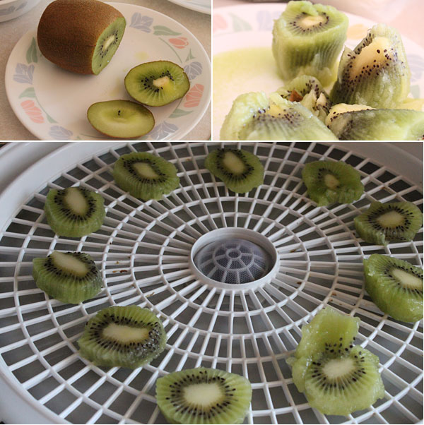 How to dehydrate kiwi