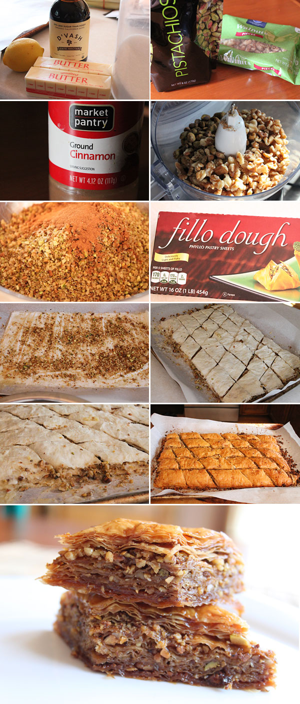 Homemade Baklava Ingredients using D'Vash