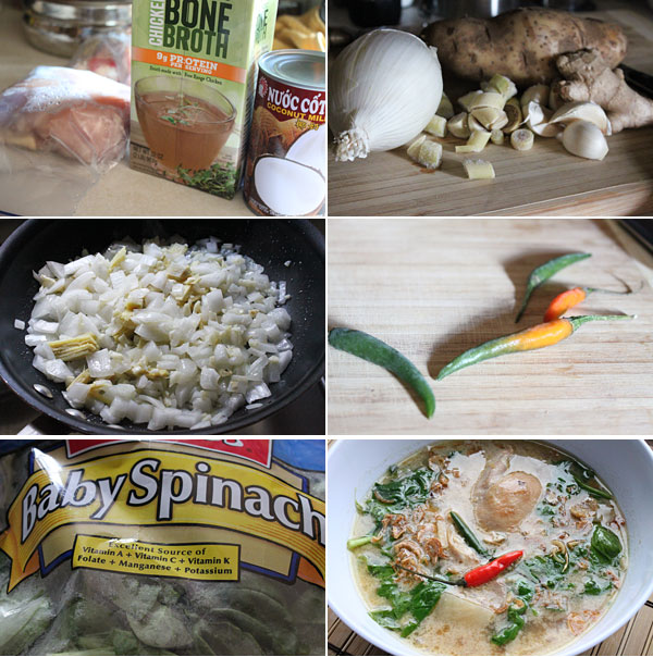 Filipino Tinola Halang Halang Ingredients