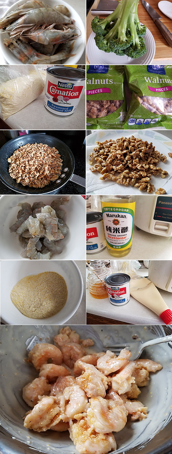 Chinese Walnut Shrimp Ingredients