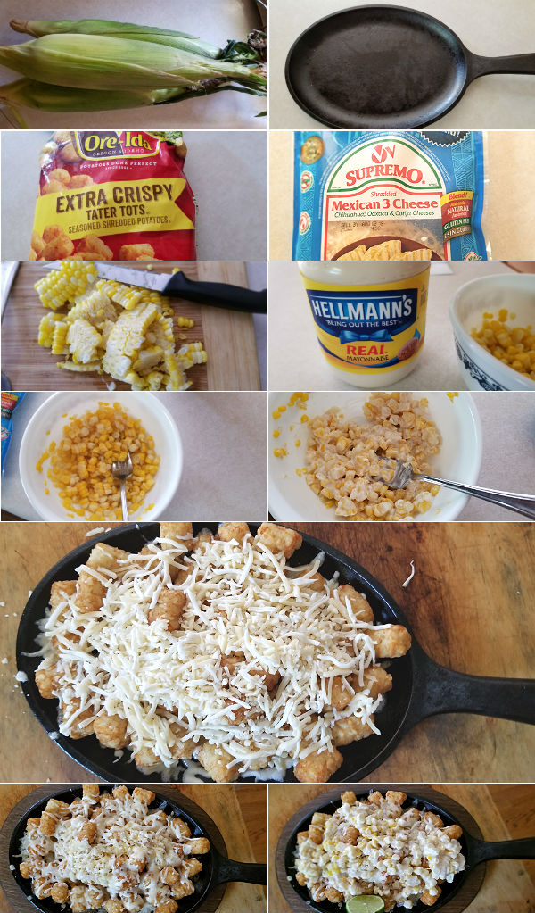 Mexican Elotes Tater Tots Ingredients