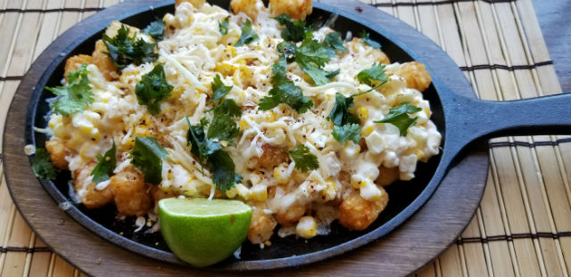 Mexican Elotes Tater Tots