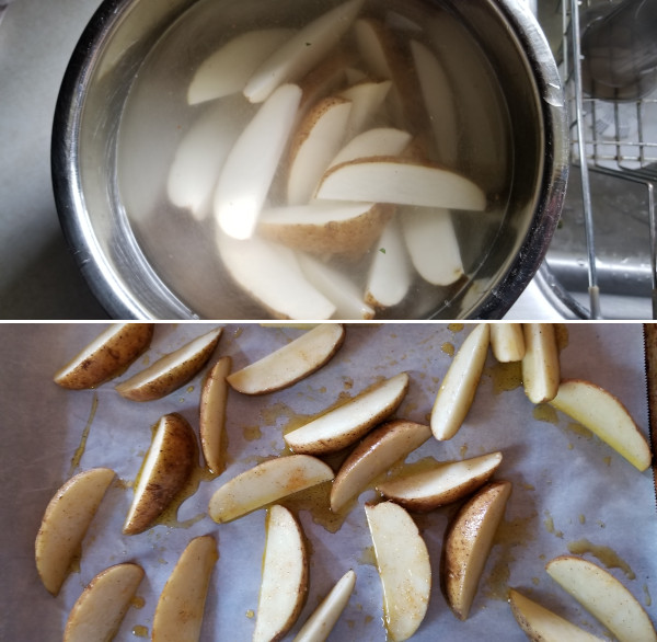 How to make wedge fries