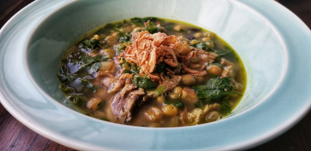 Mixed Bean and Fresh Herb Soup