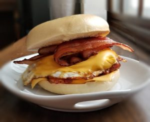 Bacon, Egg, and Cheese Bagel Sandwich