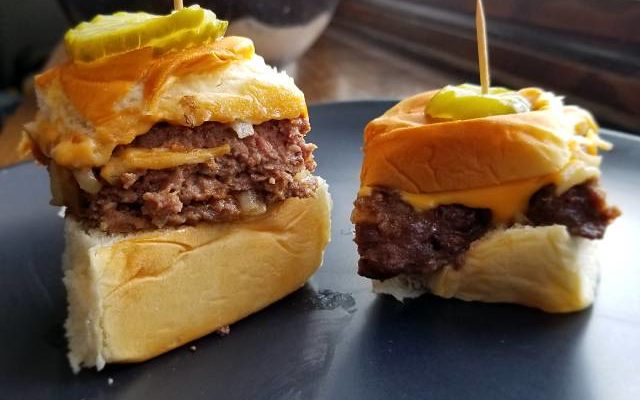 White Castle Style Cheeseburger Sliders