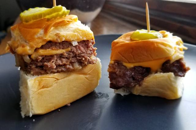 White Castle Style Cheeseburger Sliders Recipe
