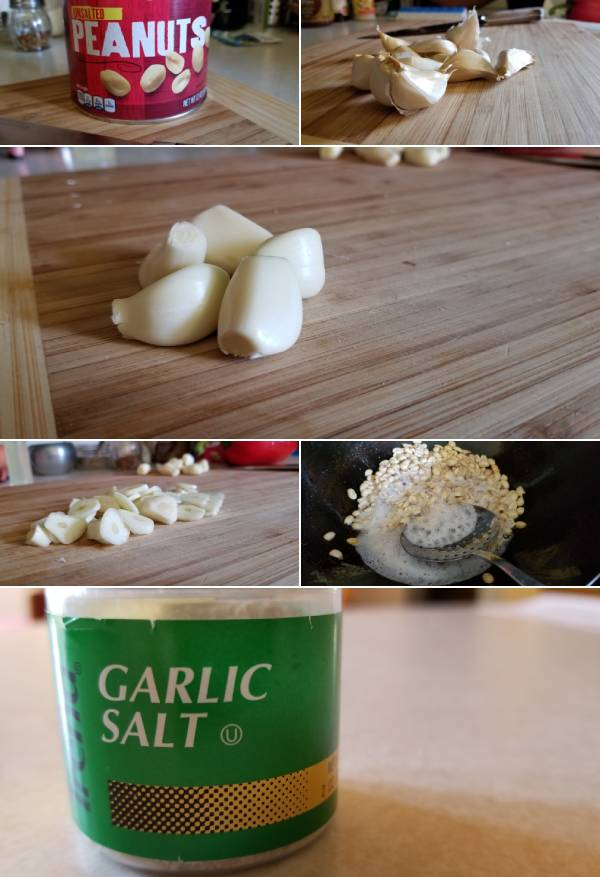 Filipino Garlic Peanuts Ingredients