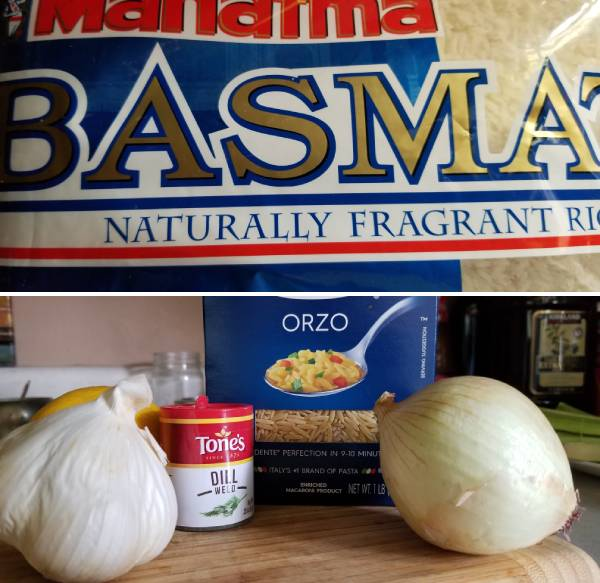 Ingredients for Greek Rice Recipe