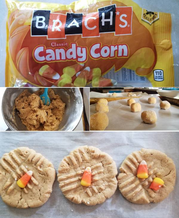 Chewy Peanut Butter and Candy Corn Cookies Recipe